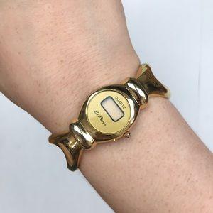 Le Baron vintage yellow gold digital watch quartz